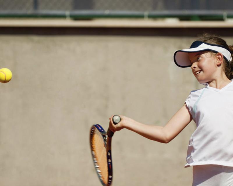 Sydney Girl Hitting Tennis Ball Cammeray Primrose Park